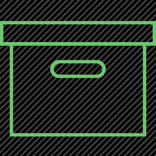 archive, box, directory, folder icon