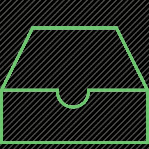 archive, box, directory, empty, folder icon