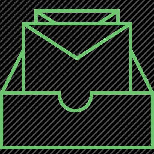 archive, directory, folder, mailbox, unread icon