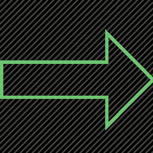 arrow, forward, further, next, pointer icon