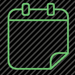 calendar, date, history, notebook, organizer icon