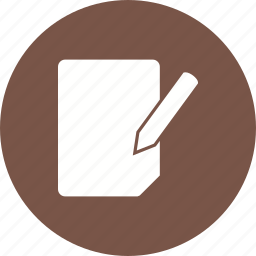 document, edit, editing, file, page icon