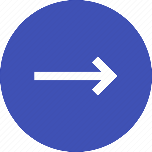 arrow, direction, indication, internet, navigation, right icon