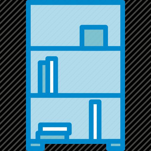 books, bookshelf, library, shelves icon