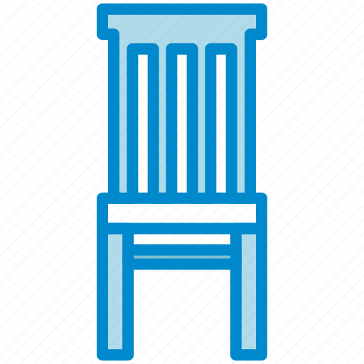 chair, dining, hiback icon