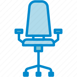 chair, desk, office icon
