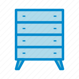 bureau, drawers, dresser icon
