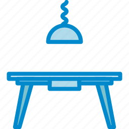 diningroom, lamp, table icon