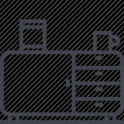 cup, cupboard, interior, wardrobe icon