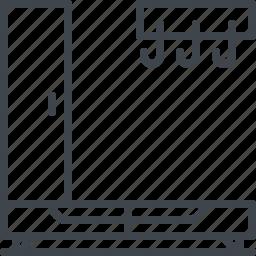 dresser, hanger, interior, wordrobe icon