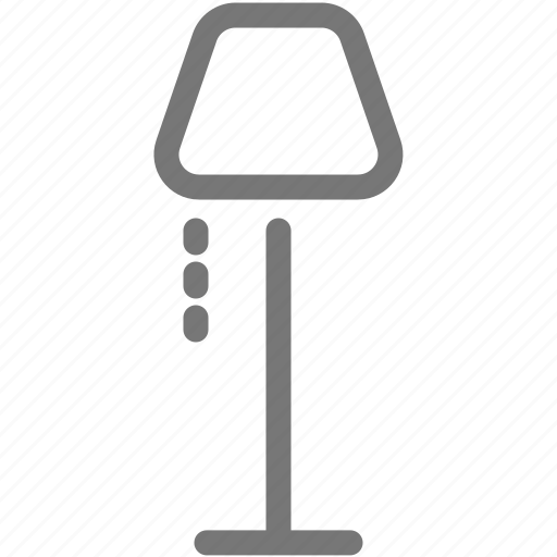 lamp, light, stand icon