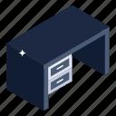 drawer table, drawer desk, worktable, workbench, furniture