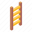 ladder, step ladder, stairs, wooden stairs, steps icon