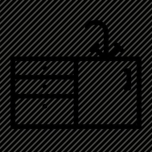 Cabinet, drawer, furniture, interior, kitchen, sink icon - Download on Iconfinder