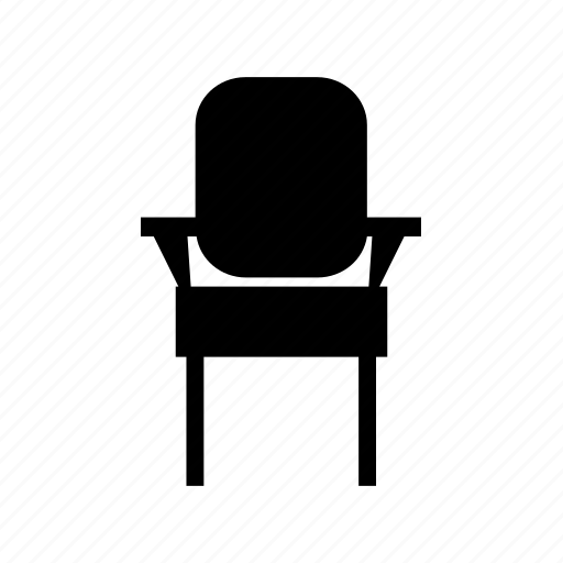 chair, furniture, home, table, work icon