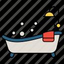 bath tub, shower, bathroom, towel, bubbles, bathing