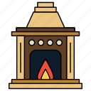 fire place, chimney, house, home, fire, flame