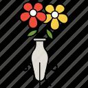 flower, pot, vase, jar, container