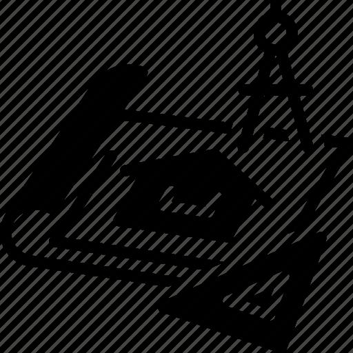 Architect, architecture, blueprints, design, renovation icon - Download on Iconfinder