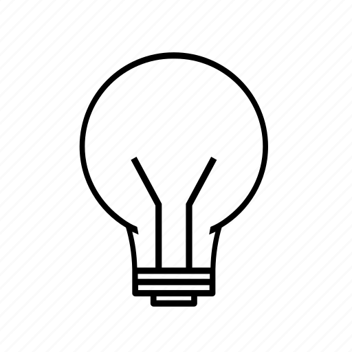 bulb, electricity, light icon