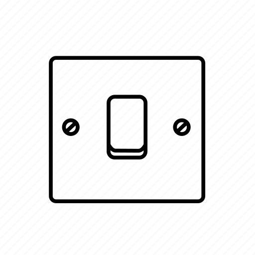 light, square, switch icon