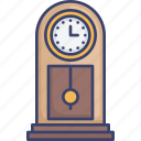 clock, decor, furnishing, furniture, interior, time icon