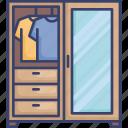 closet, clothes, clothing, cupboard, furnishing, furniture, interior icon