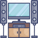 device, electronic, monitor, screen, sound, speaker, system icon