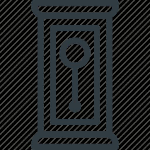 clock, decoration, floor, furniture, grandfather, pendulum icon