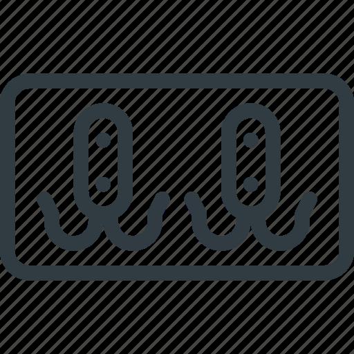 coat, furniture, hanger, holder, interior, keychain, rack icon