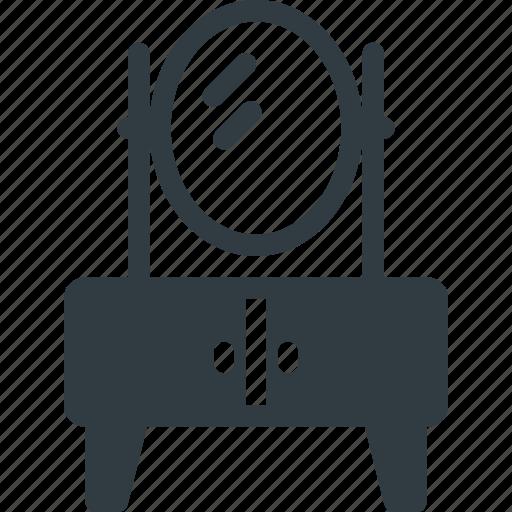 combing, cupboard, furniture, household, interior, mirror icon