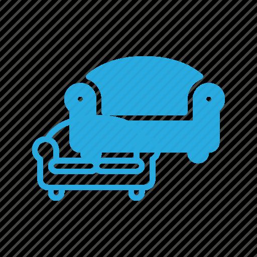couch, furniture, interior, seat, sofa icon