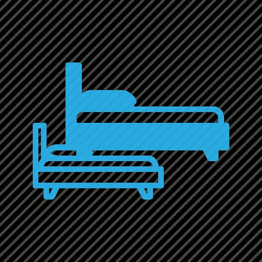 bed, bedroom, furniture, sleep icon