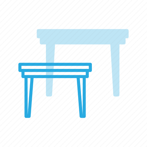 desk, dining, furniture, interior, kitchen, serve, table icon