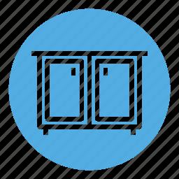 cabinet, cupboard, design, furniture, home, house, interior icon