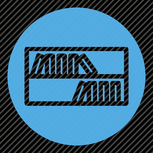 bookshelf, education, knowledge, library, literature, school, shelf icon