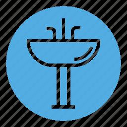 bathroom, faucet, home, house, interior, sink, wash icon