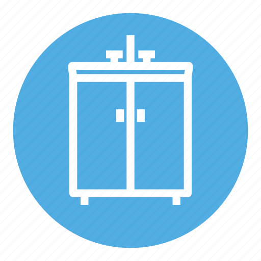 cabinet, cupboard, faucet, home, house, kitchen, sink icon