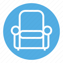 armchair, chair, furniture, home, interior, seat, sofa icon