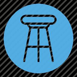bar stool, chair, furniture, house, interior, seat, stool icon