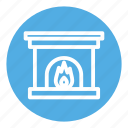 christmas, fire, fireplace, home, house, warm, winter icon