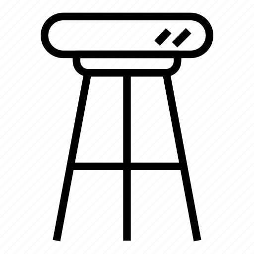 bar stool, chair, furniture, house, interior, seat, stool icon