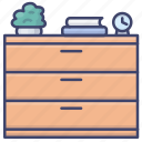 bedroom, cabinet, chest, drawer