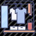 clothing, dressing, mirror, rack icon