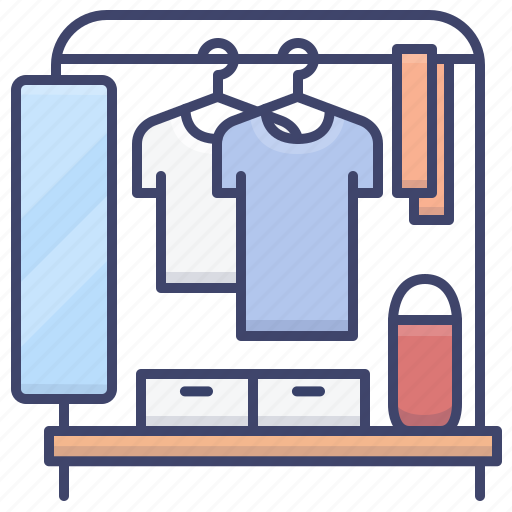 Clothing, dressing, mirror, rack icon - Download on Iconfinder
