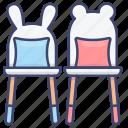 chairs, children, furniture, kids