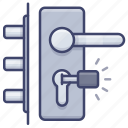 door, handle, interior, lock icon