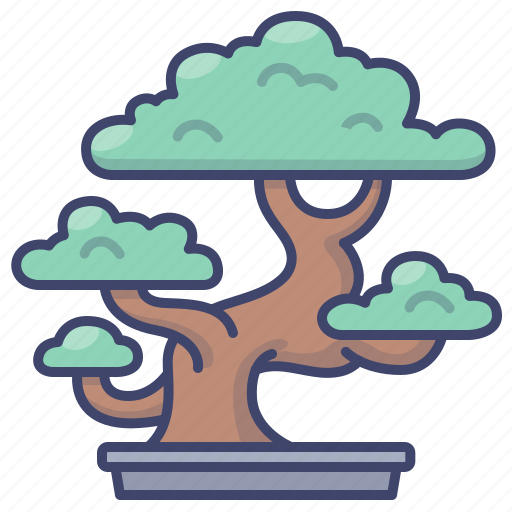 Plant Potted Bonsai Tree Icon