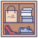 interior, cabinet, storage, shoes icon