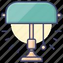 lamp, light, lighting, table